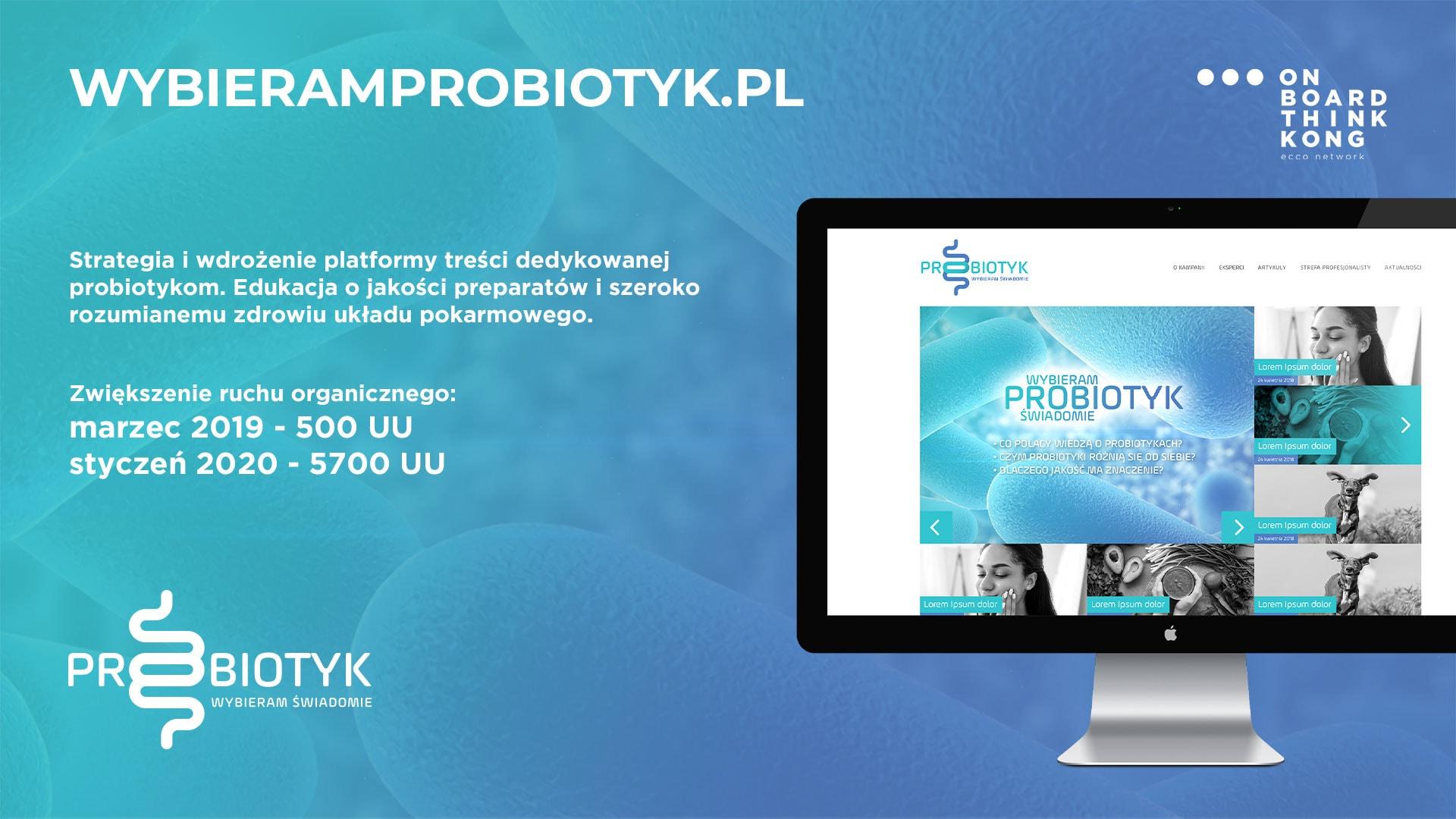 Wybieramprobiotyk.pl - Case Content Marketing